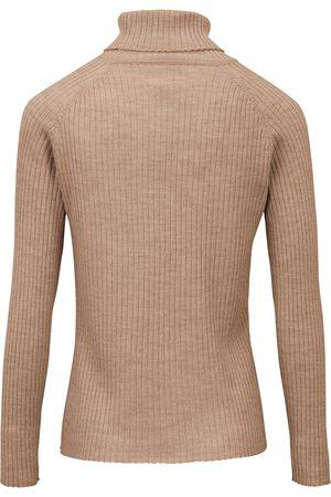 Peter Hahn Rullekravebluse i 100% ren ny uld Fra beige