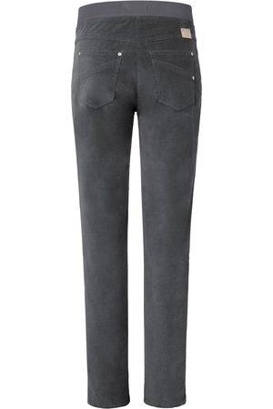 Brax Bekvem ProForm Slim-buks i finriflet fløjl Fra Raphaela by grå