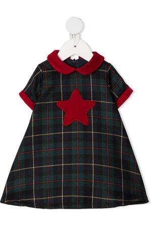 LA STUPENDERIA Skotskternet kjole med stjernemærke