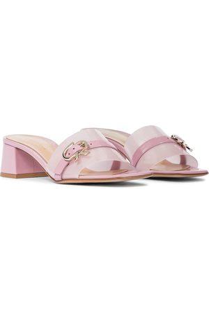 Gianvito Rossi Gemini patent leather sandals
