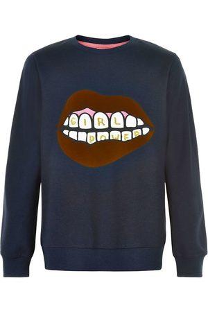 The New Sweatshirts - Sweatshirt - Elexa - Navy Blazer m. Print