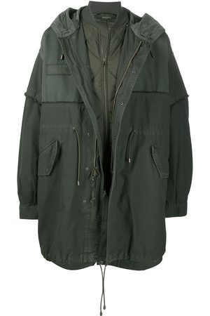 Mr & Mrs Italy Oversize hooded parka coat