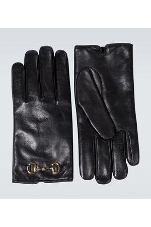 Gucci Mænd Handsker - Horsebit leather gloves