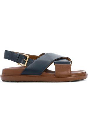 Marni Kvinder Sandaler - Fussbett sandaler med krydsende remme