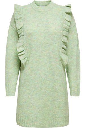 Only Kvinder Strikkede kjoler - Detaljeret Kjole Kvinder Grøn