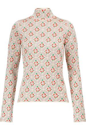 Paco rabanne Floral metallic sweater
