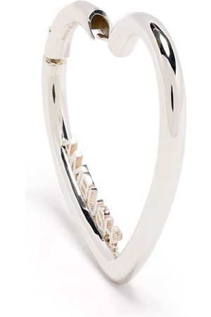 AMBUSH LADIES SMALL HEART HOOP EARR. SILVER SIL