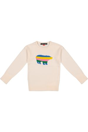 Perfect Moment Piger Strik - Bear intarsia merino wool sweater