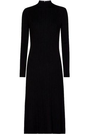 Vince Kvinder Strikkede kjoler - Ribbed-knit midi dress