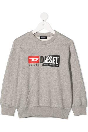 Diesel Double logo print sweatshirt