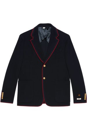 Gucci Mænd Sommerjakker - Wool cotton jersey jacket with patches