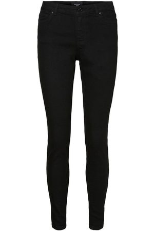 Vero Moda Vmjudy Normal Waist Jeggings Kvinder Sort