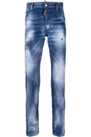 Dsquared2 Jeans med smal pasform og slitageeffekt