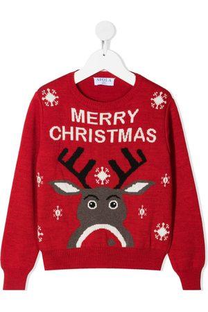 SIOLA Intarsia-strikket trøje med julemotiv