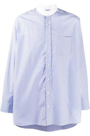 MACKINTOSH Stribet skjorte med kinakrave