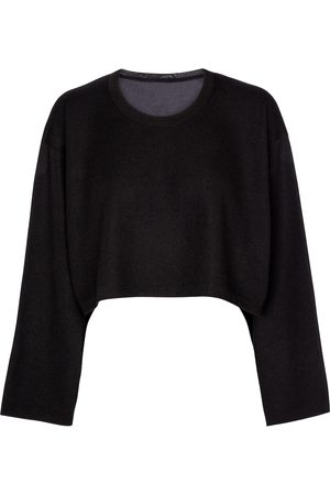 Alaïa Cropped cashmere and silk sweater