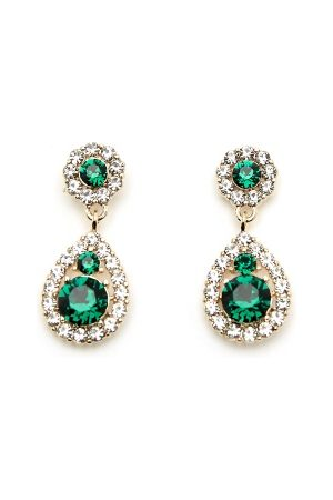 LILY AND ROSE Kvinder Øreringe - Petite Sofia Earrings Emerald One size