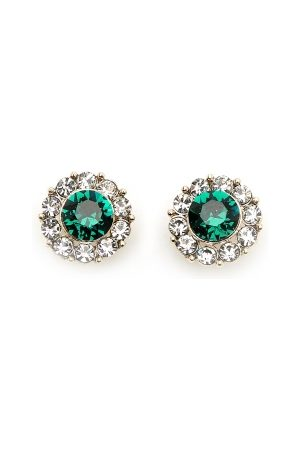 LILY AND ROSE Miss Sofia Earrings Emerald One size
