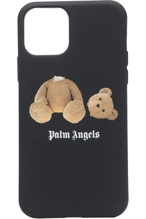 Palm Angels PA BEAR IPHONE CASE 11 PRO BLACK BROWN