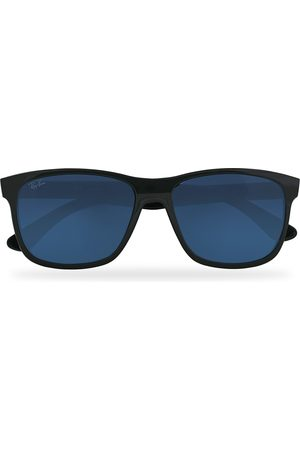 Ray-Ban RB4181 Sunglasses Shiny Black/Blue