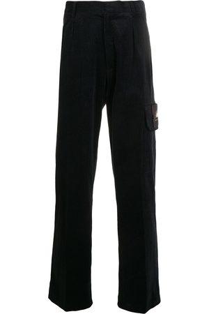 QASIMI Mænd Joggingbukser - Joggingbukser med logo-mærke og lige ben
