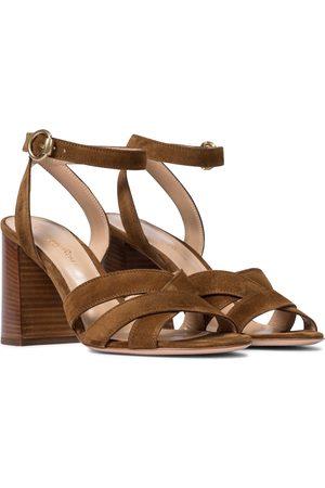 Gianvito Rossi Beya 85 suede sandals