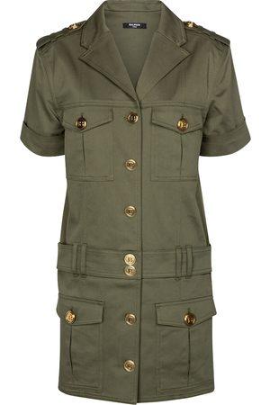 Balmain Stretch-cotton denim shirt dress