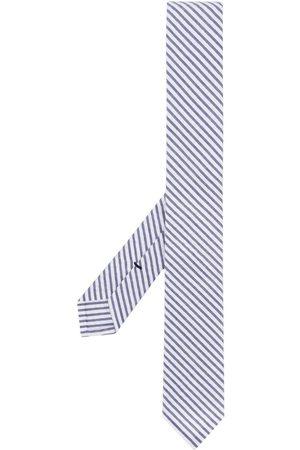 Thom Browne Klassisk marineblåt seersucker-slips