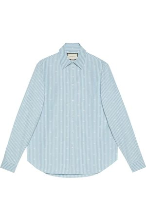 Gucci Skjorte i fil coupé med knapper