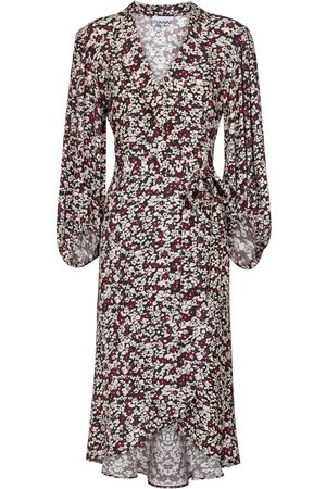 Ganni Kvinder Casual kjoler - Floral crêpe wrap dress