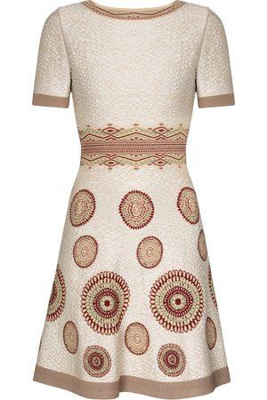 Alaïa Printed stretch-knit minidress