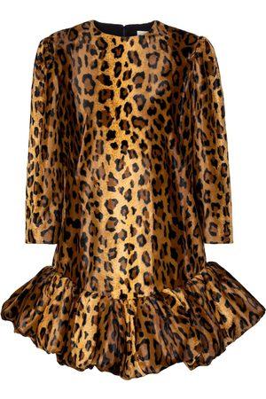 Khaite Lorie cheetah-print velvet minidress