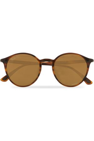 Ray-Ban RB4336CH Round Sunglasses Striped Havana