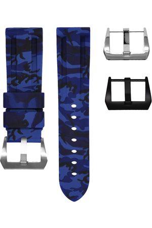 HORUS WATCH STRAPS Camouflage-pattern buckle watch strap