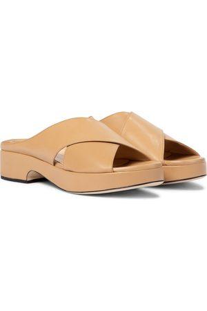 By Far Iggy leather platform sandals