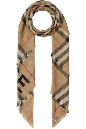 Burberry Tørklæder - Strikket tørklæde med tern