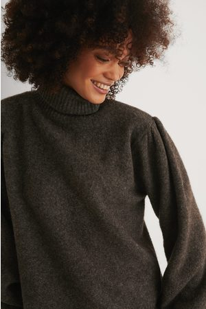 NA-KD Wool Blend Knitted Polo Neck Sweater