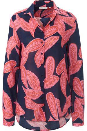 ETERNA Kvinder Langærmede skjorter - Skjortebluse lange ærmer Fra blå