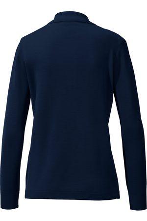 Peter Hahn Kvinder Poloer - Polobluse 100% ren ny uld Fra blå