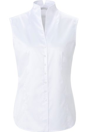 ETERNA Ærmeløs skjorteblus i let taljeret snit Fra