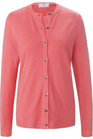 Peter Hahn Kvinder Cardigans - Twinset i 100% ren ny uld Fra pink
