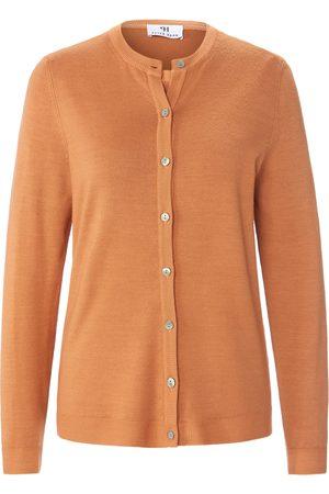 Peter Hahn Kvinder Cardigans - Twinset i 100% ren ny uld Fra brun