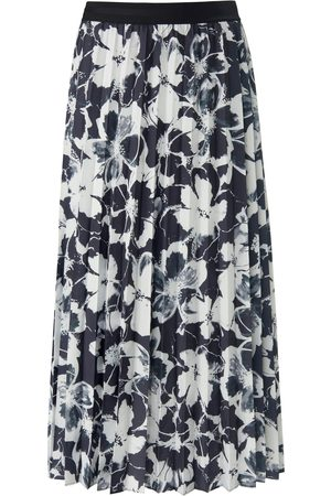 Margittes Plisseret nederdel elastisk linning Fra sort
