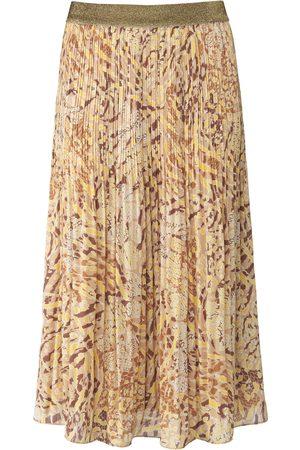 Basler Plisseret nederdel elastisk linning Fra beige