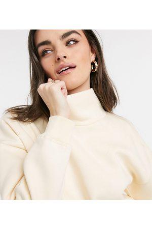 Lindex Karen - Lounge-sweatshirt med rullekrave i citronfarvet økologisk bomuldsfleece - Kun hos ASOS