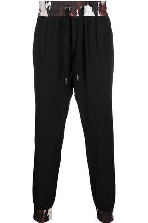 Dolce & Gabbana Mænd Joggingbukser - Joggingbukser med snoretræk og kamuflagedetalje
