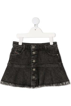 Diesel Kort flounce-nederdel i denim