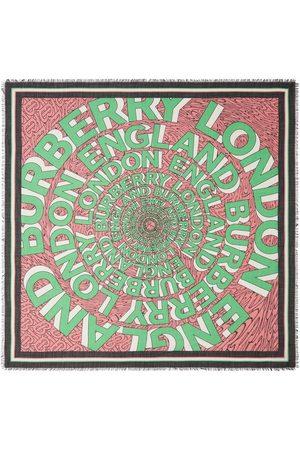 Burberry Tørklæder - Stor firkantet tørklæde med logo