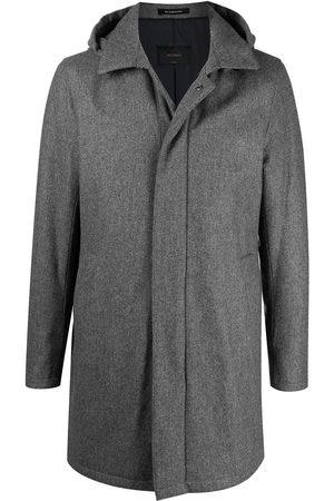 DELL'OGLIO Mænd Frakker - Enkeltradet frakke med hætte