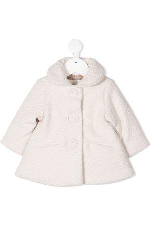 La Stupenderia Baby Frakker - Enkeltradet frakke i imiteret lammeskind
